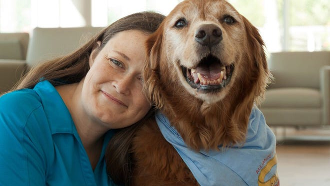 Sheri Anderson and Gabe are busy making therapy visits to our local hospitals.