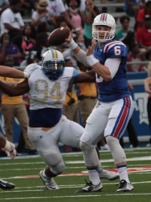 Louisiana Tech quarterback Jeff Driskel accounted for five touchdowns in the Bulldogs win Saturday over Southern.