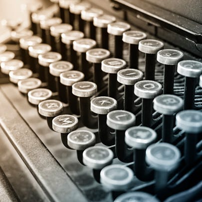 Antique Typewriter Vintage object Background