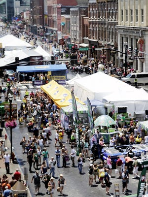 CMA Music Festival has Lower Broadway packed with fans June 9, 2013.