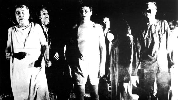 George Romero's 1968 'Night of the Living Dead' popularized the zombie movie.