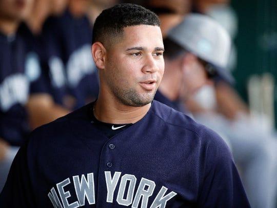 Yankees catcher Gary Sanchez