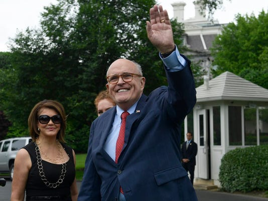 Rudy Giuliani and Jennifer LeBlanc
