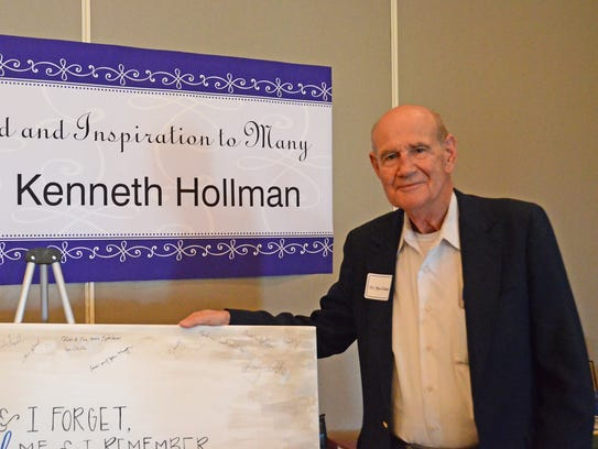 MTSU's Kenneth Hollman was celebrated during a retirement