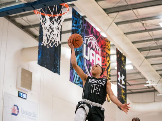 Five-star recruit RJ Hampton led the Under Armour Association in scoring during spring stops in Dallas and Indianapolis.