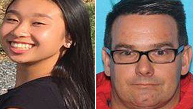 This combination of photos provided by the Allentown, Pa., Police Department shows Amy Yu, left, and Kevin Esterly.