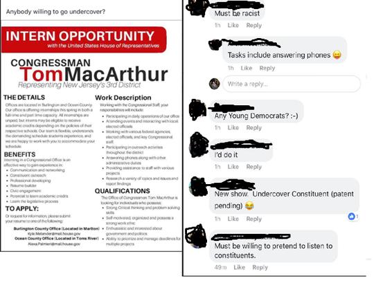 Rep. Tom MacArthur says members of Trump Resistance