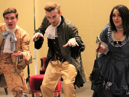 From left: Striking a pose are Basilio (Nathan Lowe),