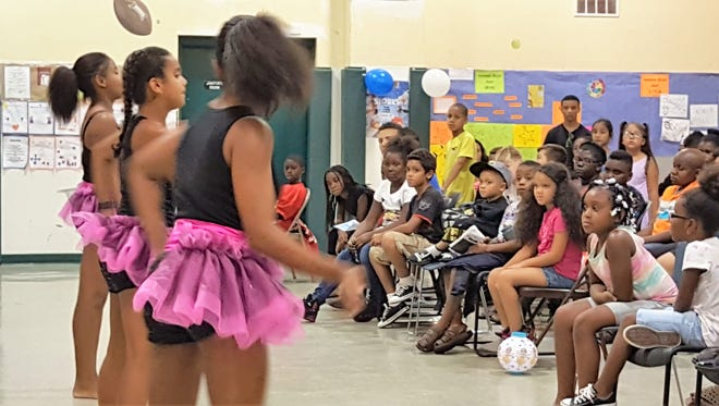 Members of the Boys & Girls Club of Vineland perform during the club's annual talent show.