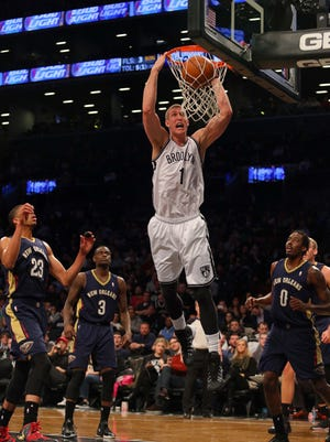 Mason Plumlee's career-high 22 points helped the Nets to a 93-81 win over the Pelicans.
