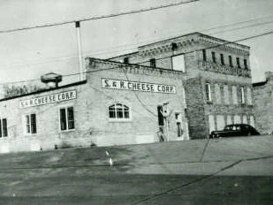 The S & R Cheese Company building as it looked in 1950.