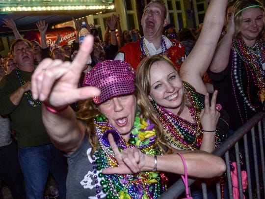 The Krewe of Lafitte Illuminated Mardi Gras Parade returns to downtown Pensacola on Friday.