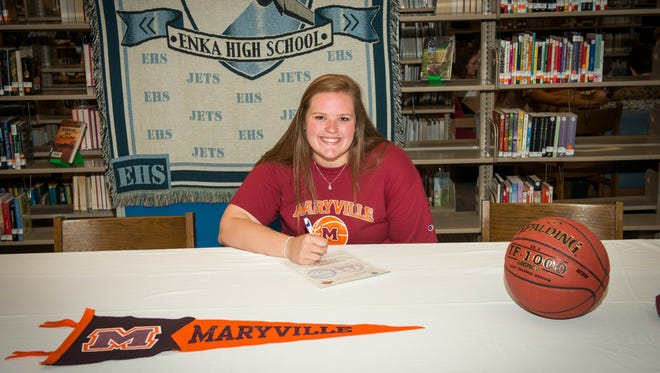 Enka senior Macee Kirkpatrick has signed to play college basketball for Maryville (Tenn.).