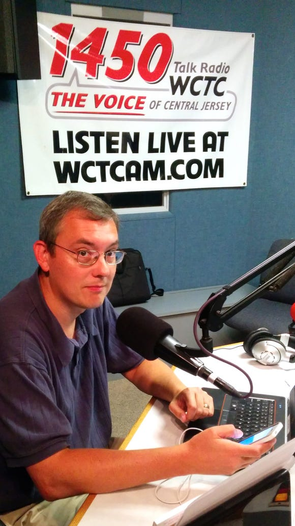 Michael Symons gets ready for fun today on WCTC.