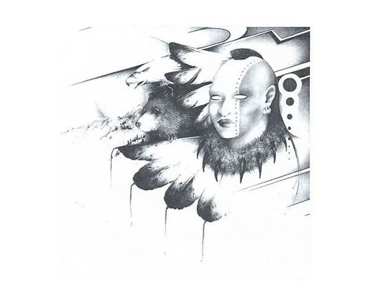 """""""Warrior,"""" drawing by Jonathan Kahut, part of the """"Scandia"""