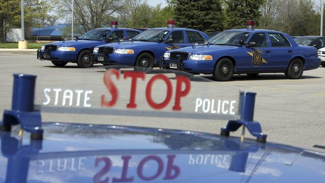 Michigan State Police cars.