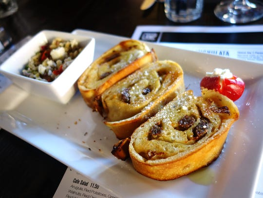 The classic mignulata, stuffed with sausage, onions,