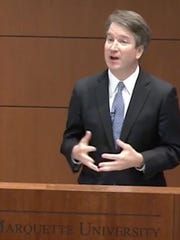 U.S. Supreme Court nominee Brett Kavanaugh speaks at