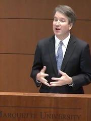 U.S. Supreme Court nominee Brett Kavanaugh speaks at