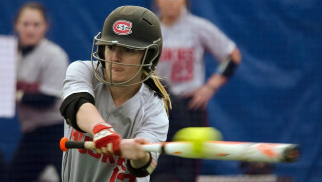 St. Cloud State senior Abby Bunnell has been named to the All-NSIC second team in softball. She is hitting .356 with 32 stolen bases going into the conference tournament.