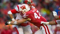 The charming Wisconsin narrative for outside linebacker Vince Biegel hit a speed bump Friday during the very first practice of rookie orientation.