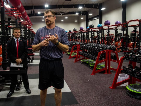 Then-UL strength and conditioning coach Rusty Whitt speaks in 2015 about the amenities and equipment in the new Ragin' Cajuns weight room. Whitt now works at Army.