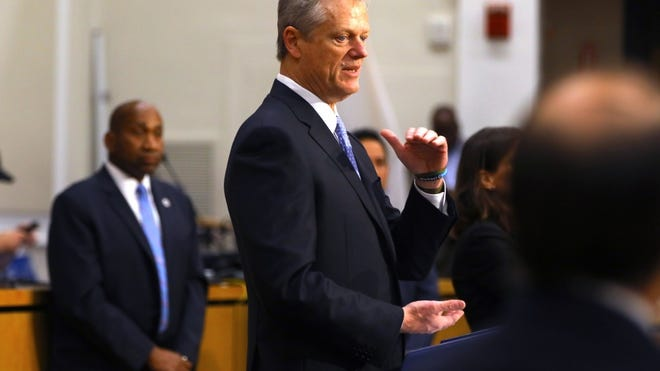 Gov. Charlie Baker, pressing the time-sensitive nature of the police certification bill, warned Wednesday that there are only 45 days left before the scheduled end of formal legislative sessions on July 31.