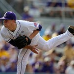 LSU 2B Brandt Broussard gets the thumbs up for Tulane tonight; Austin Bain is Roy Hobbs