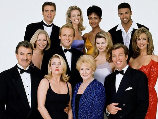Eric Braeden front left and cast of 'The Young and