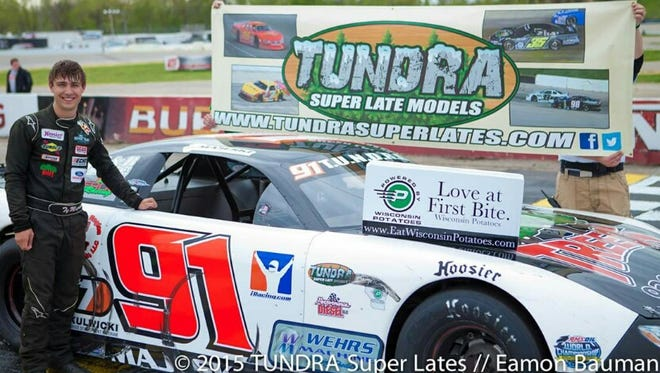 Seymour's Ty Majeski, shown after winning a T.U.N.D.R.A. super late model series event, has signed on with Roush-Fenway Racing in its Driver Development program.
