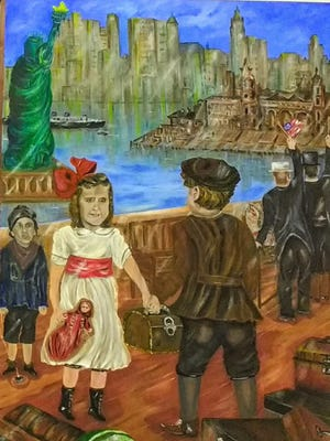 """Janice Wood's """"Happiness"""" is part of the new exhibit """"New York - Moments in Time"""" at Gallery Forty-One in Owego."""