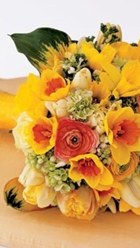 Daffodils in Yellow Wedding Bouquet