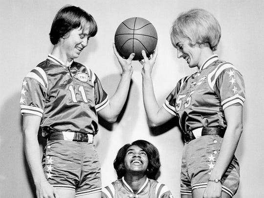 Nashville Business College teammates (from left) Nera White, Sally Smith and Doris Rogers. Date Unknown.