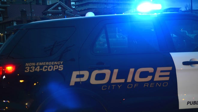 A file photo showing a Reno police patrol vehicle. Authorities are investigating a stabbing that left one man hospitalized with two stab wounds to his leg Monday night, July 22, 2019.