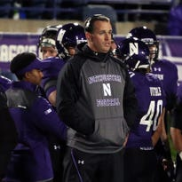 Northwestern Wildcats head coach Pat Fitzgerald during the game against the Tennessee Volunteers in the second half at the 2016 Outback Bowl at Raymond James Stadium. Fitzgerald received a base pay increase of nearly $1.1 million in 2014 — a change that resulted in him being credited with just more than $3.35 million in total compensation for the calendar year, the school's new federal tax return shows.