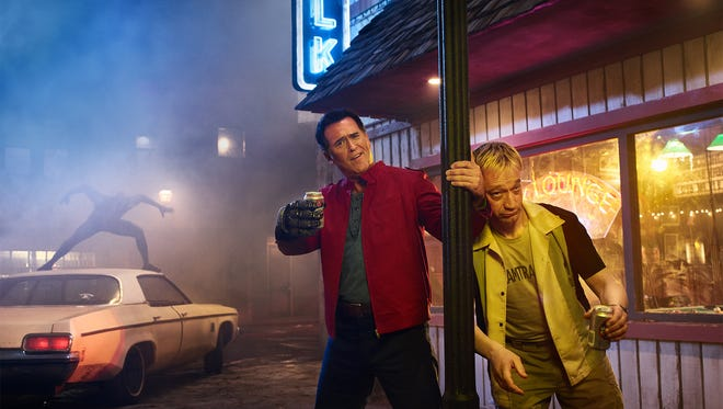 """Bruce Campbell, left, and Ted Raimi in """"'Ash vs. Evil Dead."""""""