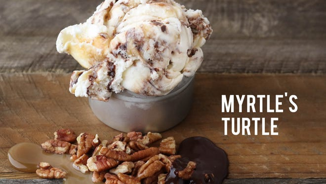 Myrtle's Turtle- a new flavor at The Comfy Cow