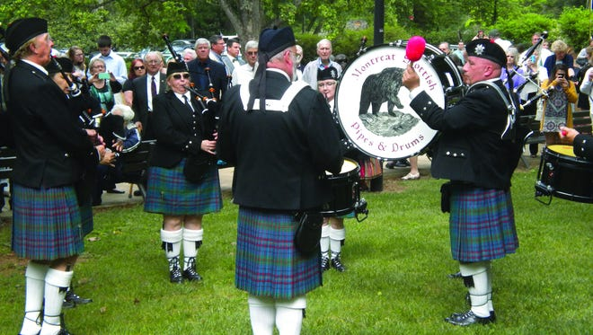The Montreat Scottish Pipes & Drum Band first plays at 10:15 a.m.outside Anderson Auditorium.