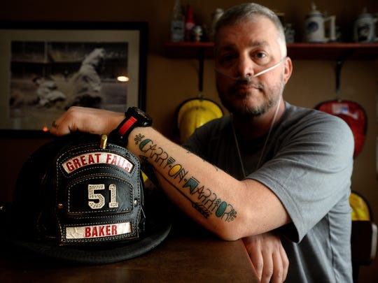 Great Falls firefighter Jason Baker, who had stage-four lung cancer, died in February.