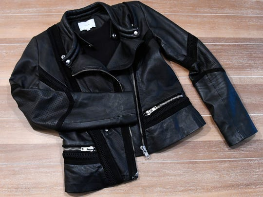 """""""Everyone should have a great leather jacket,"""" says Stylemaker Christine Mueller. """"It goes with everything."""" Tuesday, September 19, 2017."""