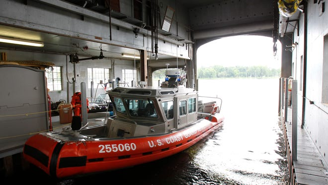 A 25-foot U.S. Coast Guard Response Boat Small is docked inside of the Whiting Boat House Thursday, Sept. 2, 2010, in Neenah. The Winnebago Co. Sheriff's Department and U.S. Coast Guard Auxiliary will be offering free boat safety inspections May 16 at the Whiting Boat House parking lot.