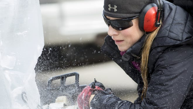Manitowoc's annual Ice on Eighth winter festival is one of several downtown attractions.