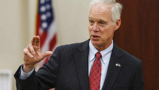 U.S. Sen. Ron Johnson makes an appearance at Orion Energy Systems Friday in Manitowoc. The Chamber of Manitowoc County organized the event.