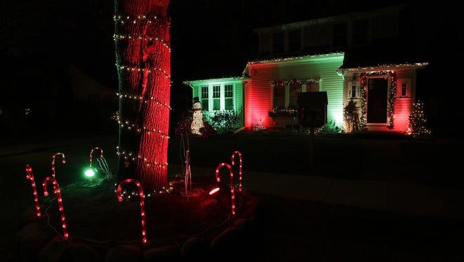 Christmas lights are on at 221 E. Circle Street, Appleton.