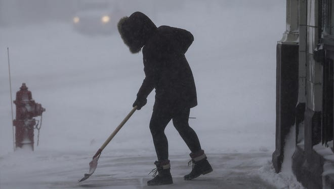 Shovels came out Wednesday as the first significant snowfall of the season arrived in northeast Wisconsin. It won't be the last.