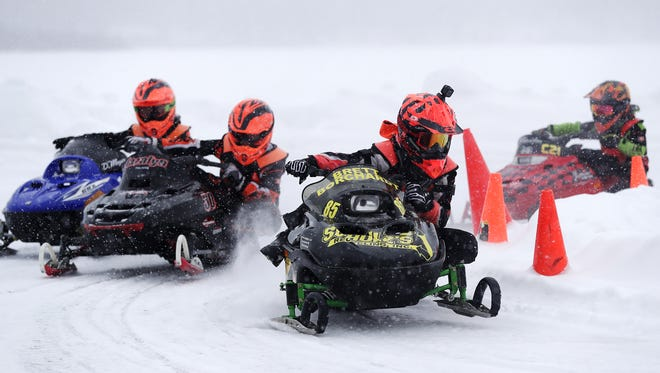 The Wisconsin Kids Snowmobile Racing Association runs races from January to March.