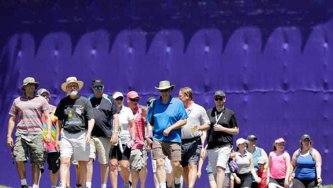 Spectators hit the course for the final round of the Thornberry Creek LPGA Classic on Sunday in Hobart.