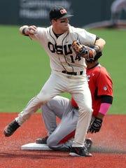 Oregon State's Caleb Hamilton struggled at the plate