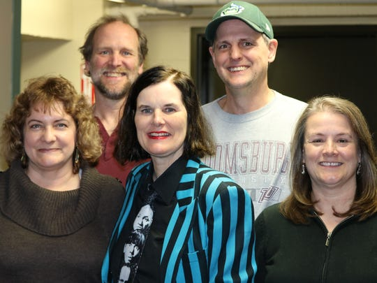 Lynda Camire (front row, left) met Paula Poundstone