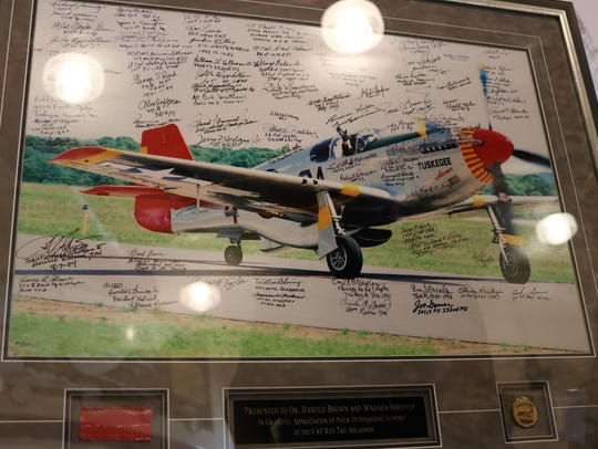 Members of the CAF Red Tail Squadron presented Harold